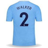 All New Kyle Walker #2 Manchester City Home 17/18 Men Soccer Jersey + Epl Badge