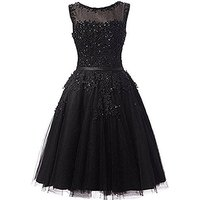 Lemai Short Beaded Lace Appliques Pearls Tulle Juniors Prom Cocktail Dress Littl