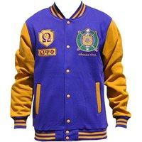 Omega Psi Phi Fraternity Men's Fleece Jacket Purple (5XL)