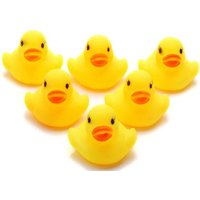 10 Pack - New Cute Baby Bath Rubber Ducks Squeaky Water Play Toy - Yellow