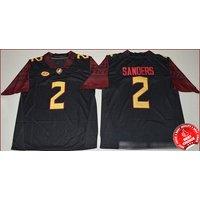 2 Deion Sanders - Florida State Seminoles Football Stitched Jersey #black