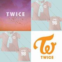 KPOP TWICE Pink T-shirt Sana Da Hyun Tshirt Unisex Tzuyu Cotton Short Sleeve Tee