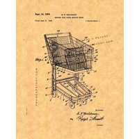 Shopping Cart Patent Print