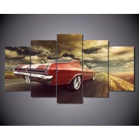 5 Pcs Chevrolet Chevelle Car Home Decor Wall Picture Printed Canvas Painting