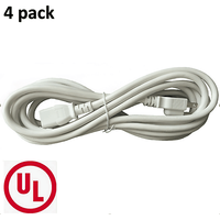 bybon-4-pack-6ft-18-awg-sjt-universal-power-cord-for-computer-printer-white-ul