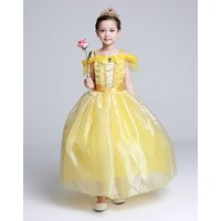 kids-girls-costume-long-dress-beauty-cosplay-clothing-children-princess-belle