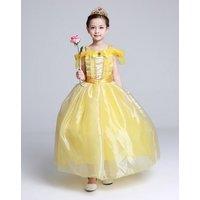 kids-girls-costume-long-dress-beauty-cosplay-clothing-children-princess-belle