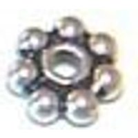 BS5-1,000 5mm .925 Sterling Silver Bali Daisy spacer beads