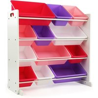 kids-toy-storage-organizer-with-12-plastic-bins-whitepink-purple