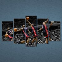 5 Pcs Superstar Lebron James Home Decor Wall Picture Printed Canvas Painting