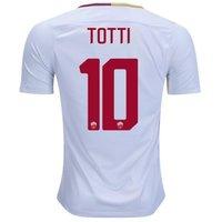 All New Francesco Totti #10 As Roma Away 2017-2018 Men Soccer Jersey