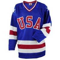 Blank Number 1980 Miracle On Ice Usa Movie Stitched Hockey Jersey Blue