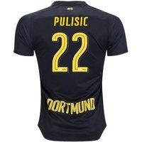 All New Christian Pulisic #22 Borussia Dortmund Away 2017-2018 Men Soccer Jersey