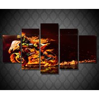 5 Pcs Valentino Rossi Motor Home Decor Wall Picture Printed Canvas Painting