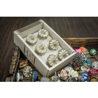 casa-decor-silver-flower-design-metal-drawer-cabinet-knob-pull-pack-of-6