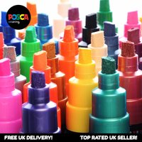 Uni Posca Paint Marker Pen PC-8K - Full Range Pro 33 Pen Set - All Colours