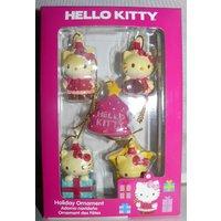 Hello Kitty 2013 Sanrio 1.5 inch Decorative 5 piece Holiday Ornament  