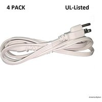 bybon-4-pack-10ft-18awg-spt-2-computer-universal-power-cord-white-ul