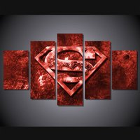 5 Pcs Movie Superman Art Wall Picture Home Decor Printed Canvas Painting