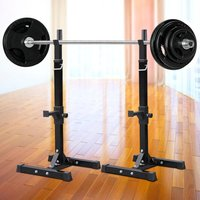 standard-solid-steel-squat-stands-adjustable-rack-barbell-free-press-bench