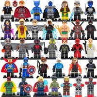 SA set black Marvel DC Super Hero Figures 200+ Avengers minifigure blocks lego C