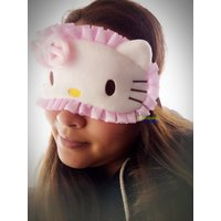 New Cute Hello Kitty Women Girls Soft Sleep Aid Mask Eye Shade Blindfold Cover