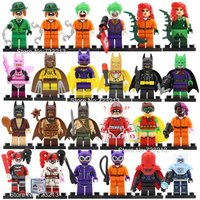 SA set A 24pcs/lot Batman Figure DC villain minifigure blocks lego Bricks Toys