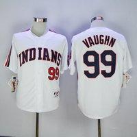 #99 Rick Vaughn Cleveland Indians World Series Baseball Jersey M-3xl White
