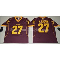Central Michigan Chippewas 27 Antonio Brown Red College Football Jersey