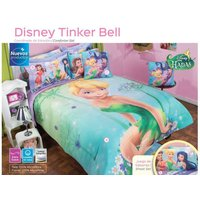 new-girls-disney-tinkerbell-tinker-bell-fairy-green-comforter-sheet-bedding-set