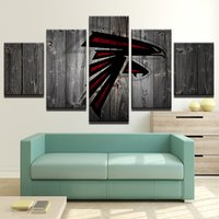 5 Pcs Atlanta Falcons Rugby Wall Picture Home Decor Printed Canvas Painting