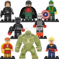 SA set 8pcs Ms. Marvel Figure Captain America Black Panther Robin minifigure blo