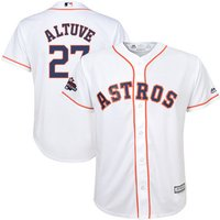 Youth Astros #27 Jose Altuve White 2017 World Series Champions Cool Base Jersey