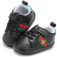 Black Baby Boys Walking Shoes Newborn Boys Room Shoes G199