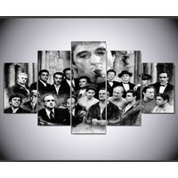 5 Pcs The Godfather Figure Poster Home Decor Wall Picture Canvas Oil Painting