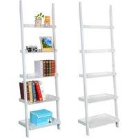 5-tier-leaning-ladder-shelf-bookcase-bookshelf-wooden-display-shelving-unit-70