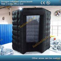 2.4m Portable Inflatable Photo Booth Cube Tent Oxford Cloth Party Tent igloos