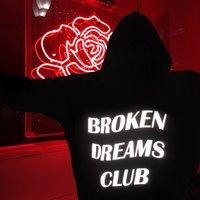 acef591f72e9f8 2017 new fashion sweatshirts BROKEN DREAM CLUB Reflective Unisex Hoodie  Black