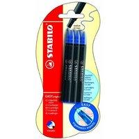 Pack Of 6 Stabilo Easy Original Refill Ink Cartridges Blue Medium