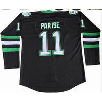 #11 Zach Parise North Dakota Fighting Sioux Hockey Jersey Double Stitched Black