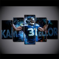 5 Pcs Kam Chancellor Seattle Seahawks Decor Wall Picture Printed Canvas Painting