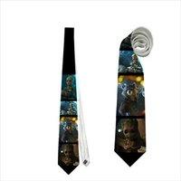 necktie-baby-groot-tree-nerd-alien-racoon-cosplay-geek-neck-tie-cosmic-hero