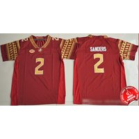 2 Deion Sanders - Florida State Seminoles Football Stitched Jersey #red