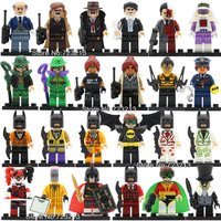 SA set C 24pcs/lot Batman Figure DC villain minifigure blocks lego Bricks Toys