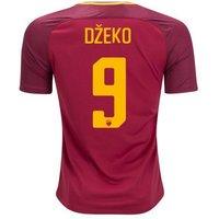 All New Edin Dzeko #9 As Roma Home 2017-2018 Men Soccer Jersey
