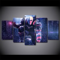 5 Pcs Death Stroke Comic Home Decor Wall Picture Printed Canvas Painting
