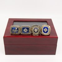 1955 1978 1981 1988 Los Angeles Dodgers World Series Championship Ring Set 4PCS