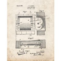 Toilet Paper Holder Patent Print - Old Look