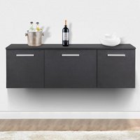 black-wall-mounted-buffet-dining-furniture-room-storage-dinnerware-cabinet-door