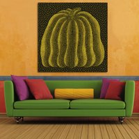 1 Pcs Abstract Pumpkin By Yayoi Kusama Wall Picture Canvas Painting 28x28inch